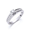 18ct White Gold 0.50ct Brilliant Cut Diamond Ring TGC-DR0721