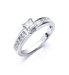 18ct White Gold 1.00ct Princess Cut Diamond Ring TGC-DR0724