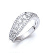 18ct White Gold 0.95ctw Fancy Diamond Ring TGC-DR0737