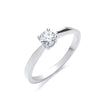 18ct White Gold 0.35ct Diamond Engagement Ring TGC-DR0754