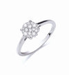 18ct White Gold 0.25ct Cluster Diamond Ring TGC-DR0762