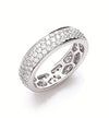 18ct White Gold 1.40ct Pave Set Full ET Ring TGC-DR0766