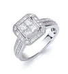 18ct White Gold 1.00ct Diamond Ring TGC-DR0768