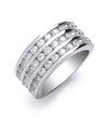 18ct White Gold 3 Rows D.1.50ctw Diamond Ring TGC-DR0769