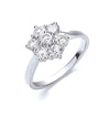 18ct White Gold 7 Stones D.1.00ctw Cluster Diamond Ring TGC-DR0778