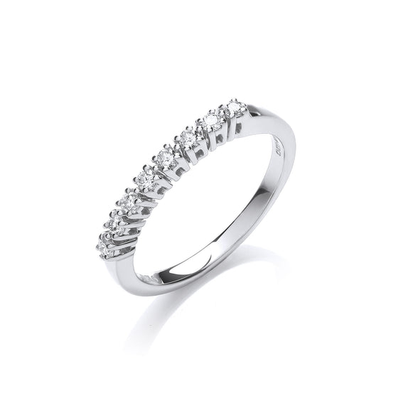 9ct White Gold 0.20ct Diamond Eternity Ring TGC-DR0783