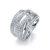 18ct White Gold 1.00ct Diamond Dress Ring TGC-DR0785