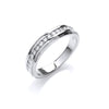 18ct White Gold 0.25ctwDiamond Eternity Ring TGC-DR0787