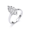 18ct White Gold 0.75ct Diamond Dress Ring TGC-DR0791