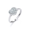 18ct White Gold 0.25ct Diamond Heart Ring TGC-DR0794