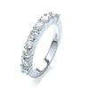 18ct White Gold  1.00ctw Diamond Half Eternity Ring TGC-DR0798