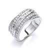 18ct White Gold  0.75ctw Diamond Half Eternity Ring TGC-DR0805