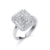 9ct White Gold 0.50ct Diamond Dress Ring TGC-DR0814
