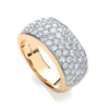 18ct Yellow Gold 1.60ctw Diamond Bombay Ring TGC-DR0817