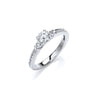 18ct White Gold 0.70ct Fancy Trilogy Ring TGC-DR0826