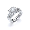 18ct White Gold 1.00ct Fancy Bridal Set TGC-DR0827