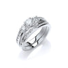 18ct White Gold 1.20ct Fancy Bridal Set TGC-DR0829