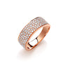 18ct Rose Gold 0.60ct Pave Set Ring TGC-DR0831
