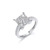 18ct White Gold 1.00ct H-SI Cluster Ring TGC-DR0832