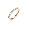 18ct Yellow Gold 0.20ctw Half Eternity Ring TGC-DR0835