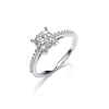 18ct White Gold 0.50ct H-SI Dress Ring TGC-DR0837