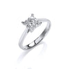 18ct White Gold 0.30ct H-SI Engagement Ring TGC-DR0838