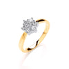 9ct Yellow Gold 0.33ctw Diamond 7St Cluster Ring TGC-DR0850