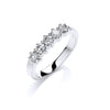 9ct White Gold 0.50ct 5 Stone Diamond Eternity Ring TGC-DR0856