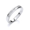 Platinum 0.25ct G/H-Vs Diamond Half Eternity Ring TGC-DR0865