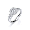 18ct White Gold 0.75ct H-SI Diamond Fancy Ring TGC-DR0869