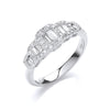 18ct White Gold 0.72ct G-VS Dress Ring TGC-DR0876