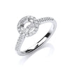 18ct White Gold Semi Set Mount TGC-DR0883