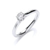 18ct White Gold 0.40ct Certificated Solitaire Ring TGC-DR0888