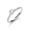 18ct White Gold 0.55ctw Certificated Solitaire Ring TGC-DR0889