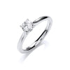 18ct White Gold 0.50ct Certificated Engagement Ring TGC-DR0891