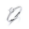 18ct White Gold 0.70ctw Certificated Engagement Ring TGC-DR0892
