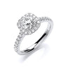 18ct White Gold 1.00ctw Certificated Engagement Ring TGC-DR0900