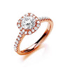 18ct Rose Gold 1.00ctw Certificated Engagement Ring TGC-DR0907