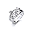 18ct White Gold 0.75ct GH-SI Diamond Dress Ring TGC-DR0910