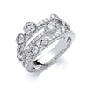 18ct White Gold 1.60ct GH-SI Diamond Dress Ring TGC-DR0912