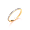 9ct Yellow Gold 0.27ct 50% Set Diamond Half ET Ring TGC-DR0928