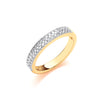 18ct Yellow Gold 0.35ctw Diamond Eternity Ring TGC-DR0943