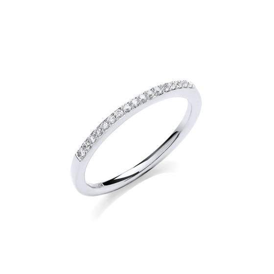 9ct White Gold 0.10ct Eternity Ring TGC-DR0950