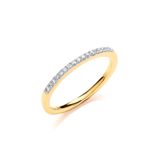 9ct Yellow Gold 0.10ct Eternity Ring TGC-DR0951