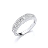 18ct White Gold 1.00ct Princess & Brilliant Cut Diamond ET Ring TGC-DR0960