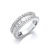 18ct White Gold 1.50ct Baguette & Brilliant Diamond Ring TGC-DR0965