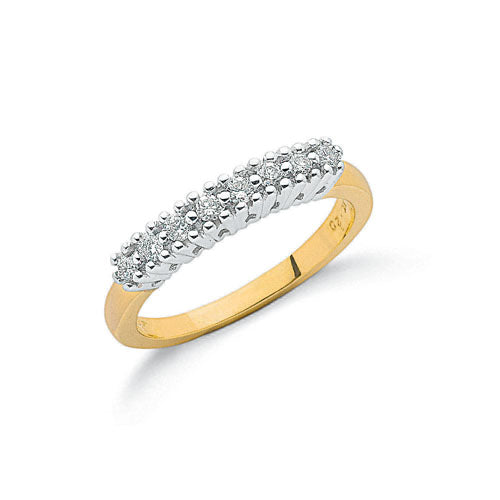 9ct Yellow Gold 0.20ct Diamond Eternity Ring TGC-DR0014