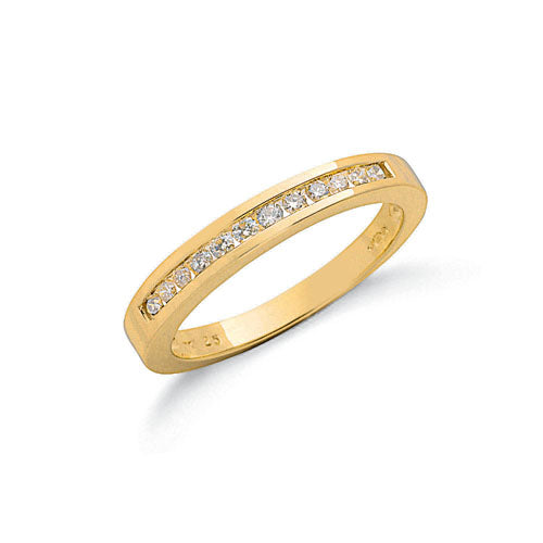 9ct Yellow Gold 0.25ct Diamond Eternity Ring TGC-DR0017