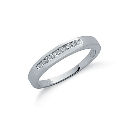 9ct White Gold 0.15ctw Diamond Eternity Ring TGC-DR0212