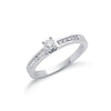9ct White Gold 0.30ct Diamond Engagement Ring TGC-DR0252